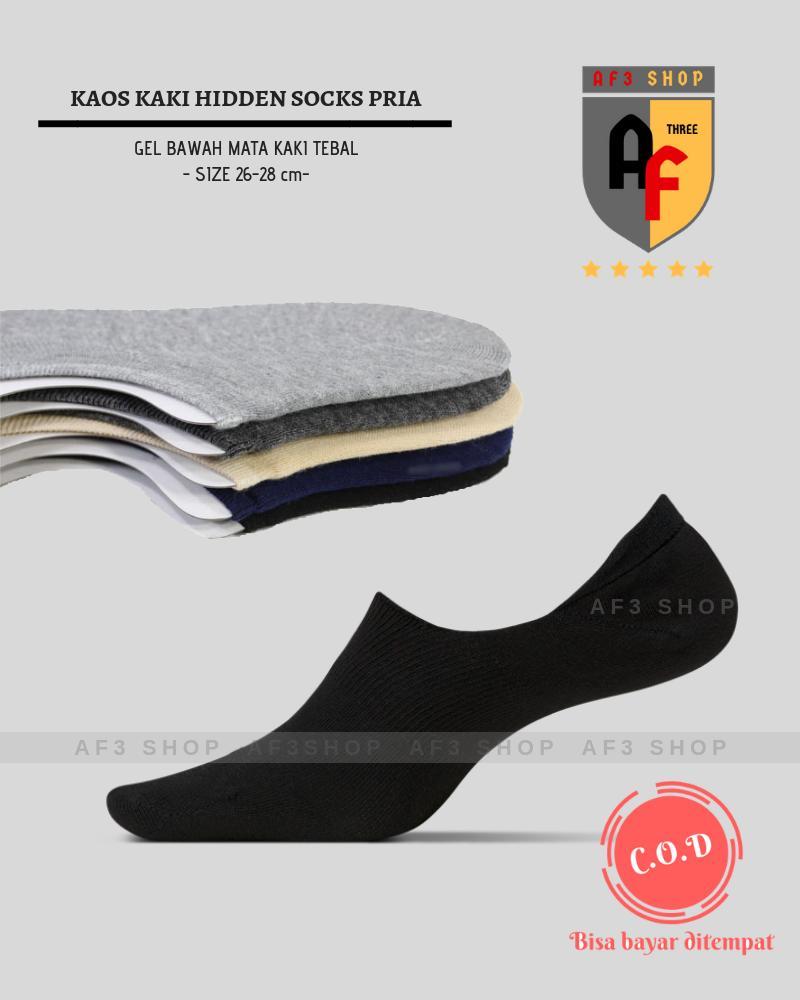Jual Kaos Kaki Hidden Invisible Socks Gel Cut Unisex Tebal Bawah Mata Dibawah Harga Rp 12000
