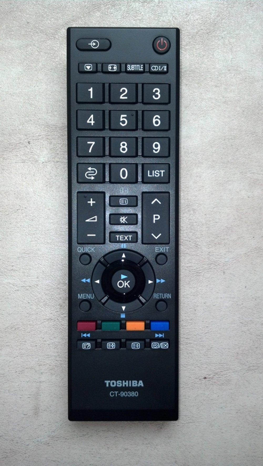 remote led/lcd tv toshiba ct-90380 cocok untuk semua tipe toshiba