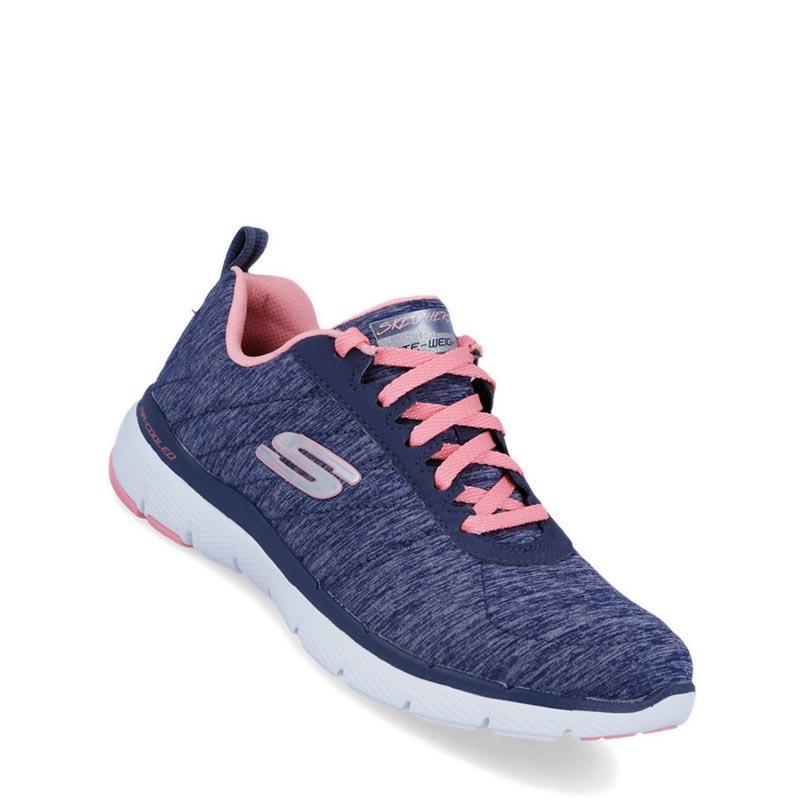Skechers - Flex Appeal 3.0 - Insiders Sepatu Olahraga Sneakers Wanita - Navy b038a78b04