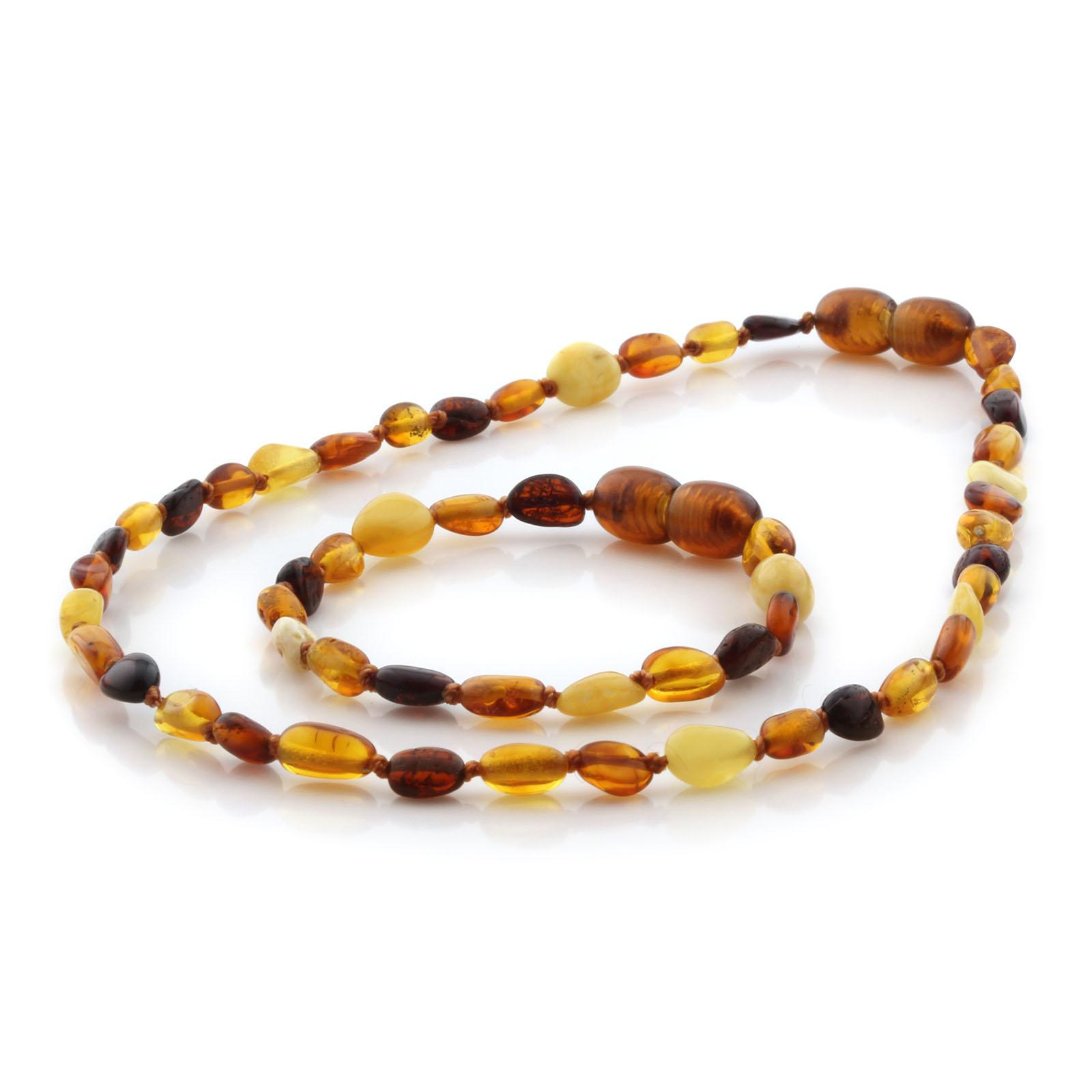 SET BE129 Kalung dan Gelang Baltic Amber Baby