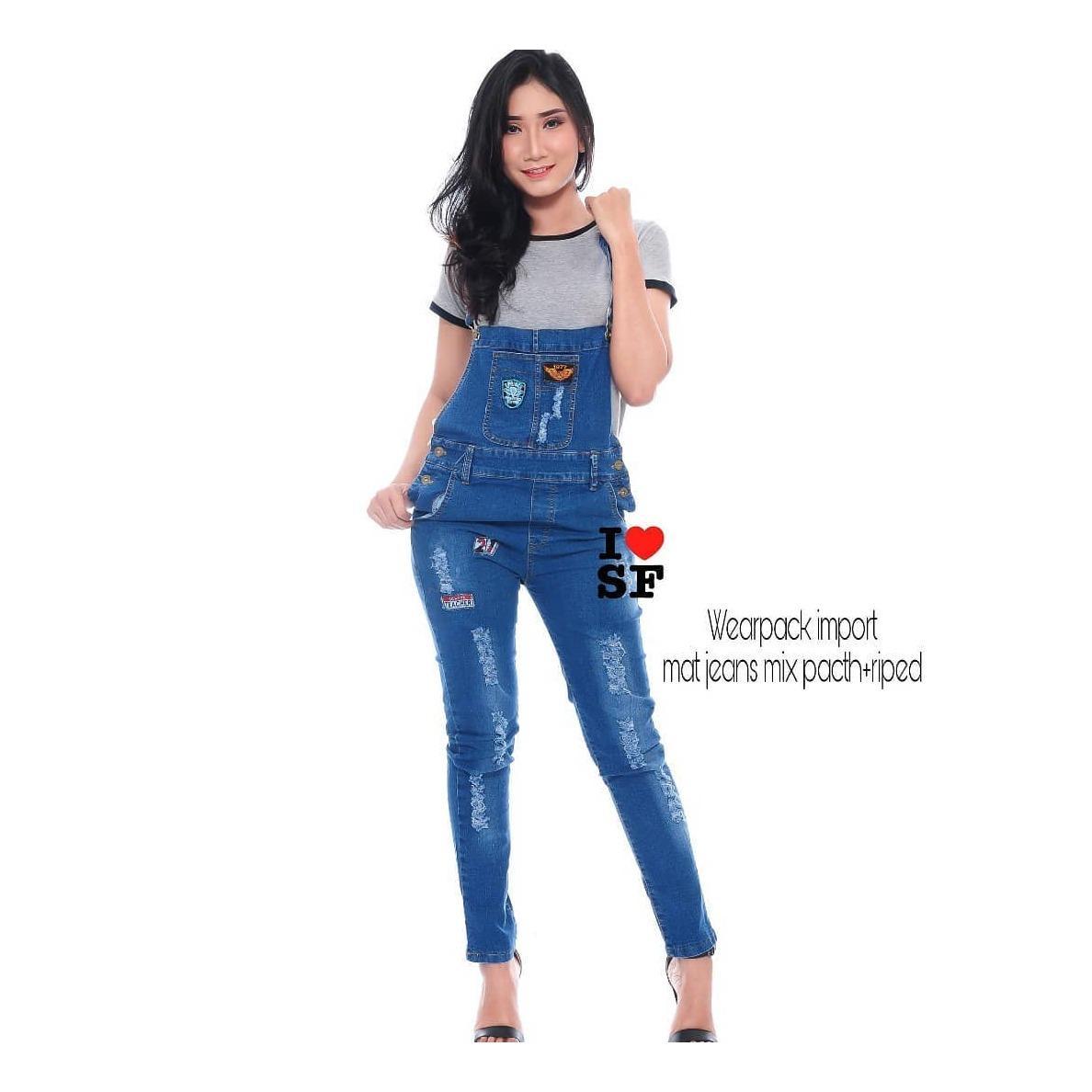 Baju Original Wearpack Import Jeans Celana Cewek Pants Panjang Joger Wanita Muslim Santai Casual Simple Trend 2018
