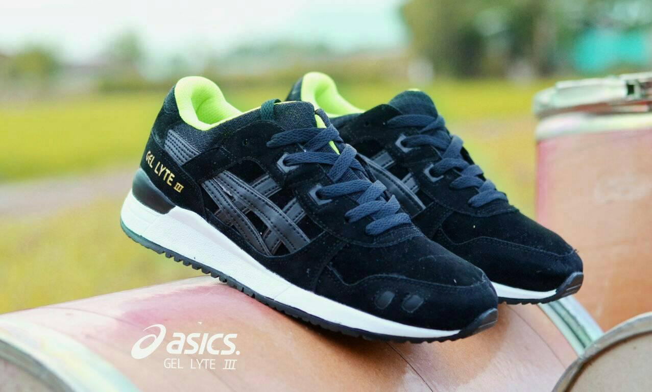 Sepatu Pria Sport Asics Gel Lyte III Full Black Terlaris Di LAZADA