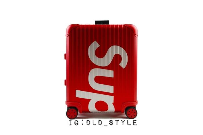 Koper Supreme X Rimowa Suitcase Best Mirror Quality Laser Print 1:1 - Hitam