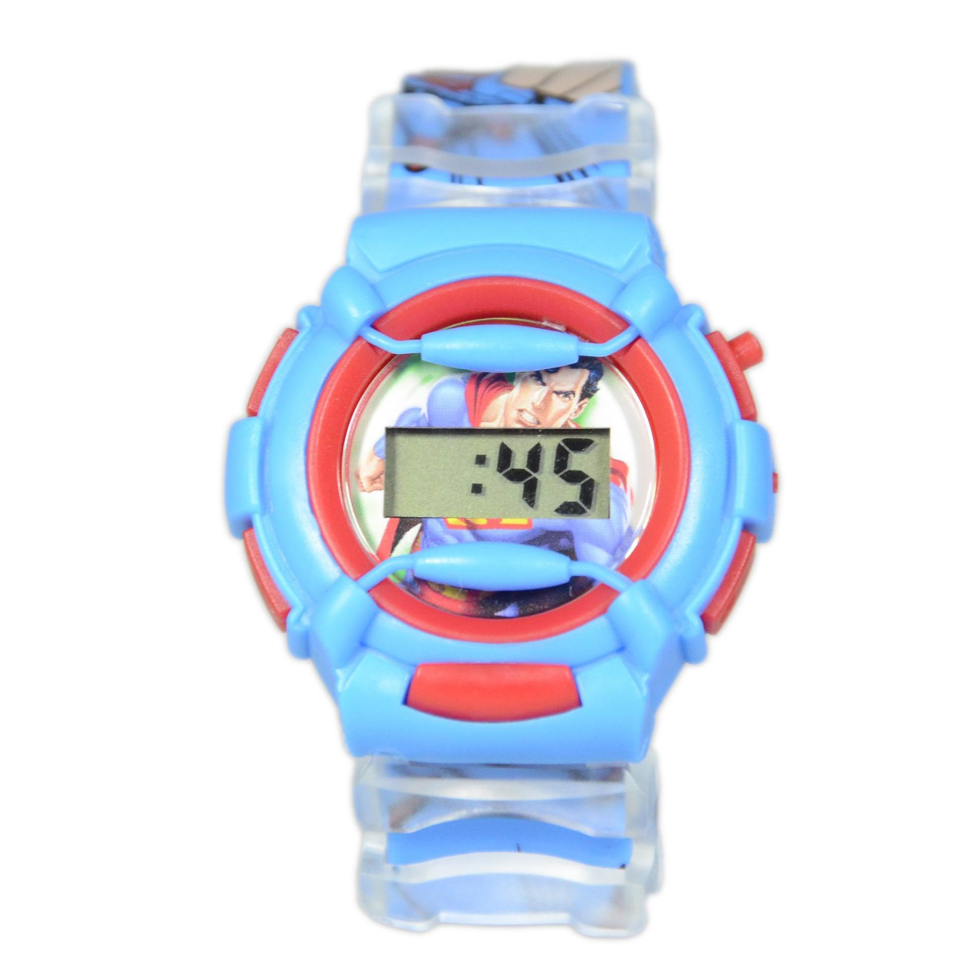 DnB COLLECTION Jam Tangan Anak Sporty Baby-G Superman - Biru Muda