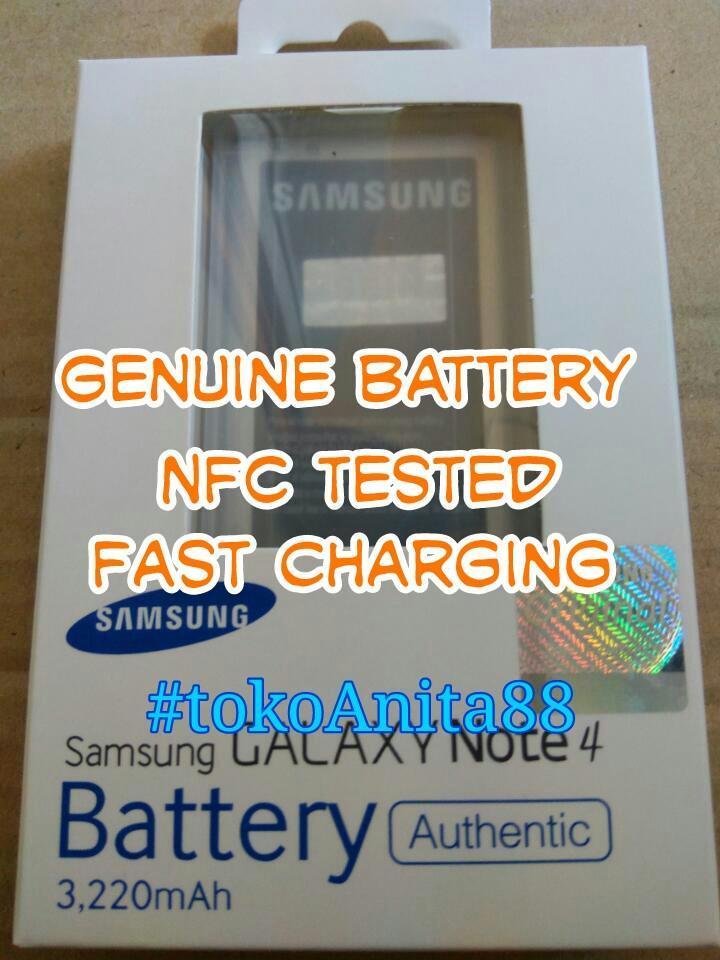 ORIGINAL 100% Baterai Batre Batere Battery Batrai Batery Samsung Galaxy Note4 Note 4 EB-BN910BBE N9