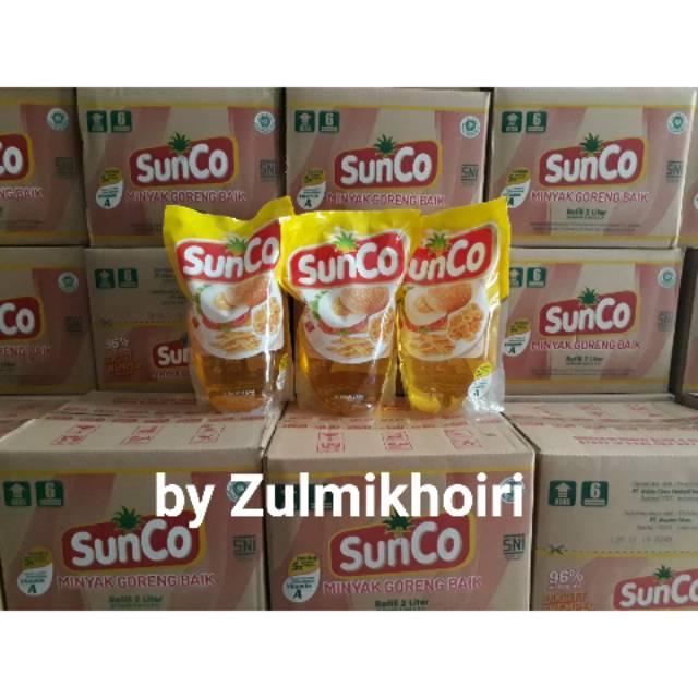 Minyak Goreng Sunco 2 liter Per Karton By GoSend Variasi Tidak Ada