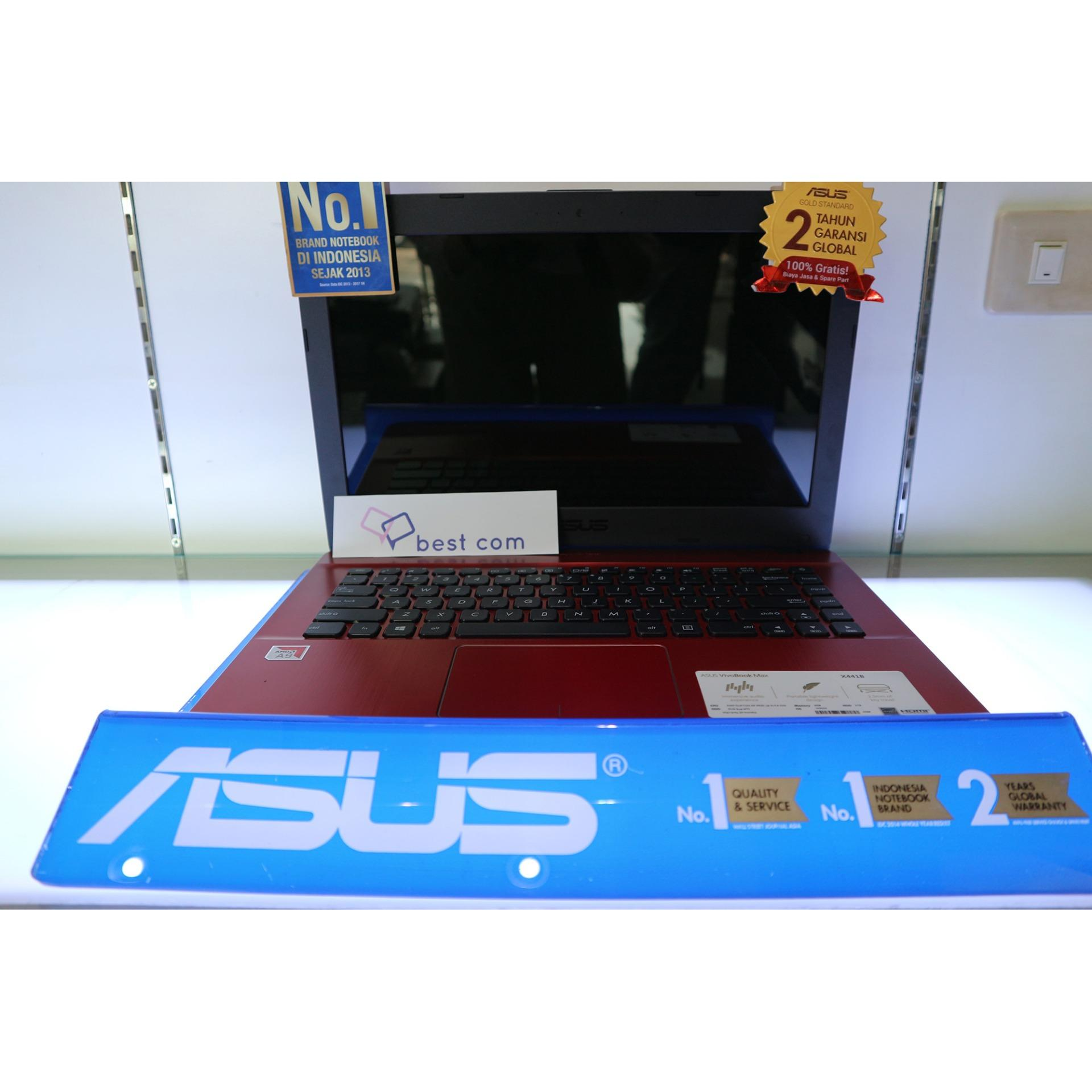 Laptop Asus X441BA AMD A9 [AMD A9-9420/RAM 4GB/HDD 1TB/Radeon R5/14 Inci/Windows 10 Ori]