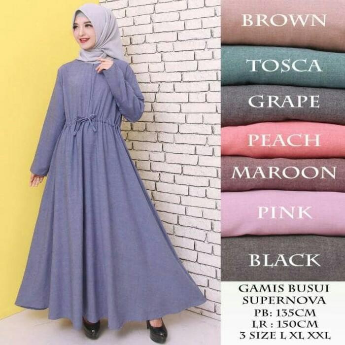 DnD - PROMO GAMIS MURAH BAHAN KATUN SUPERNOVA Baju Gamis Gamis wanita Baju  Muslimah Dress Muslimah 9f43651cbc