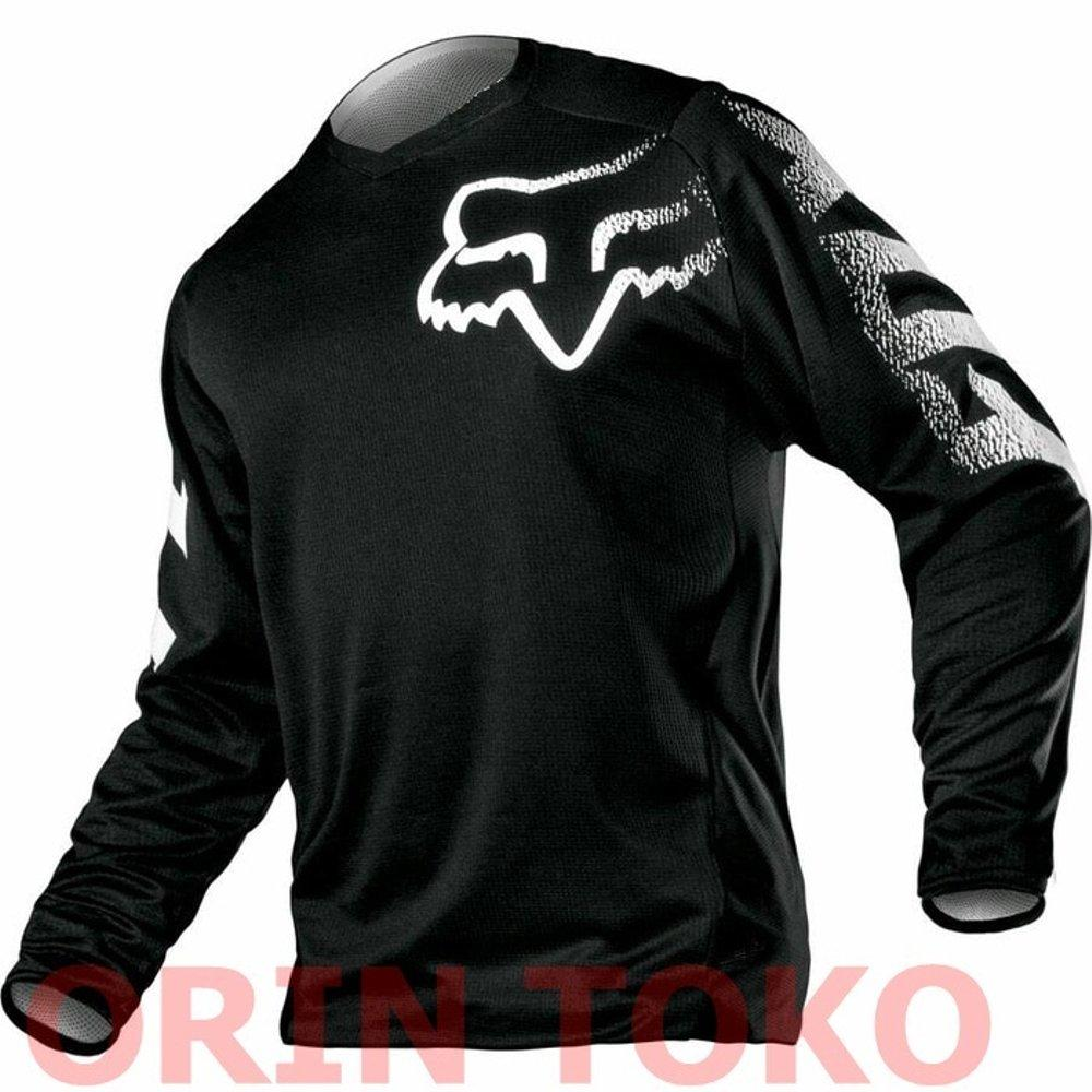 Jersey Sepeda & Trail Fox Hitam By Orin Toko 2.