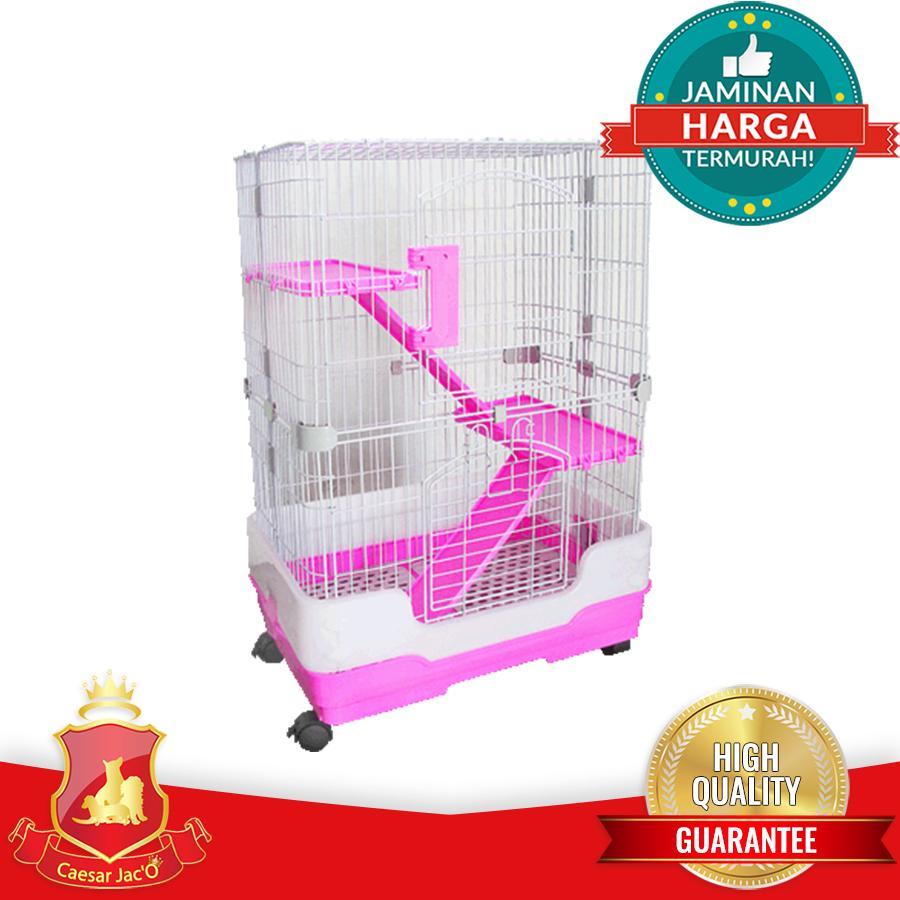 Kandang Kucing Hamster Hewan 3 Lantai + Bak Plastik C-226