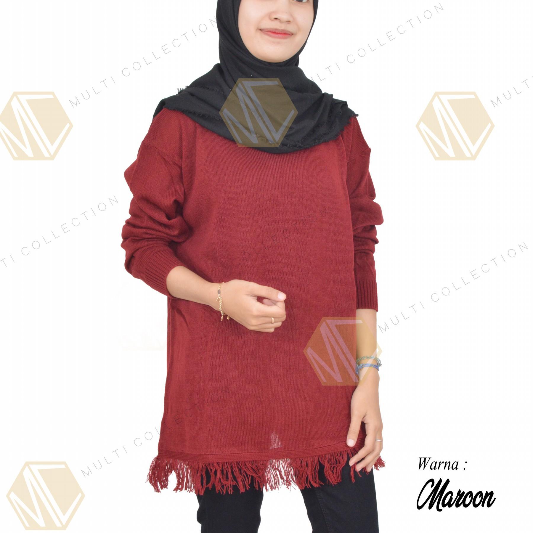 Buy Sell Cheapest Glow Rajut Raida Best Quality Product Deals Knit Atasan Baju Wanita  Pakaian Rawis Slim Sweater Besar Korea Big Size