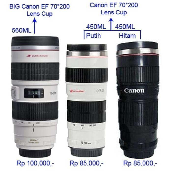 PROMO!!! 450 ml lens mug cup / termos lensa kamera / canon zoomable ef 70*200 - 5pnVih