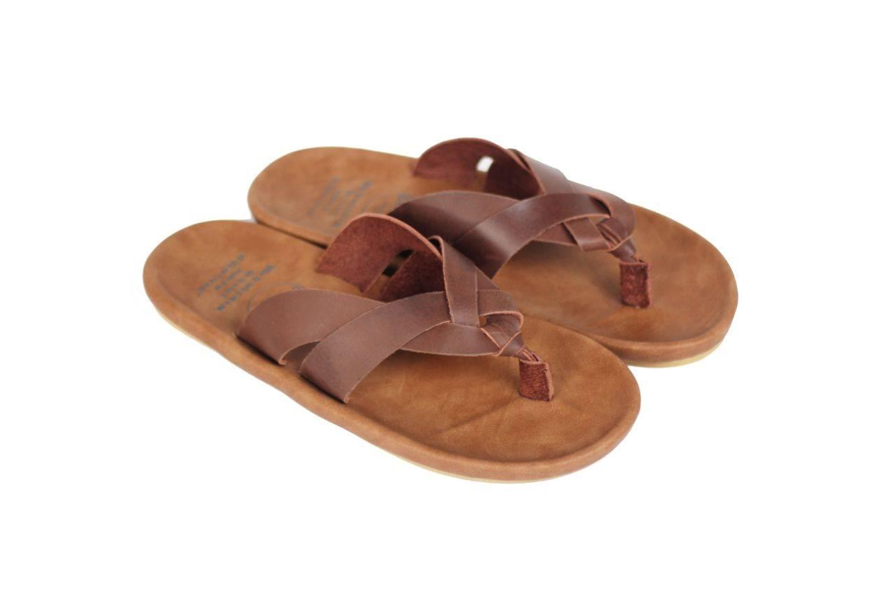 FLASH SALE sandal pria kulit asli type terbaru cevany indonesian made