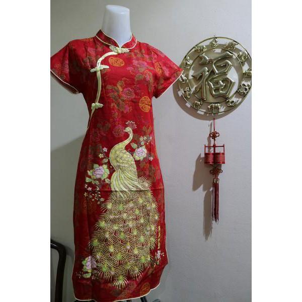 Promo Hanya Hari Ini Baju Dress Cheongsam Imlek Perempuan Murah