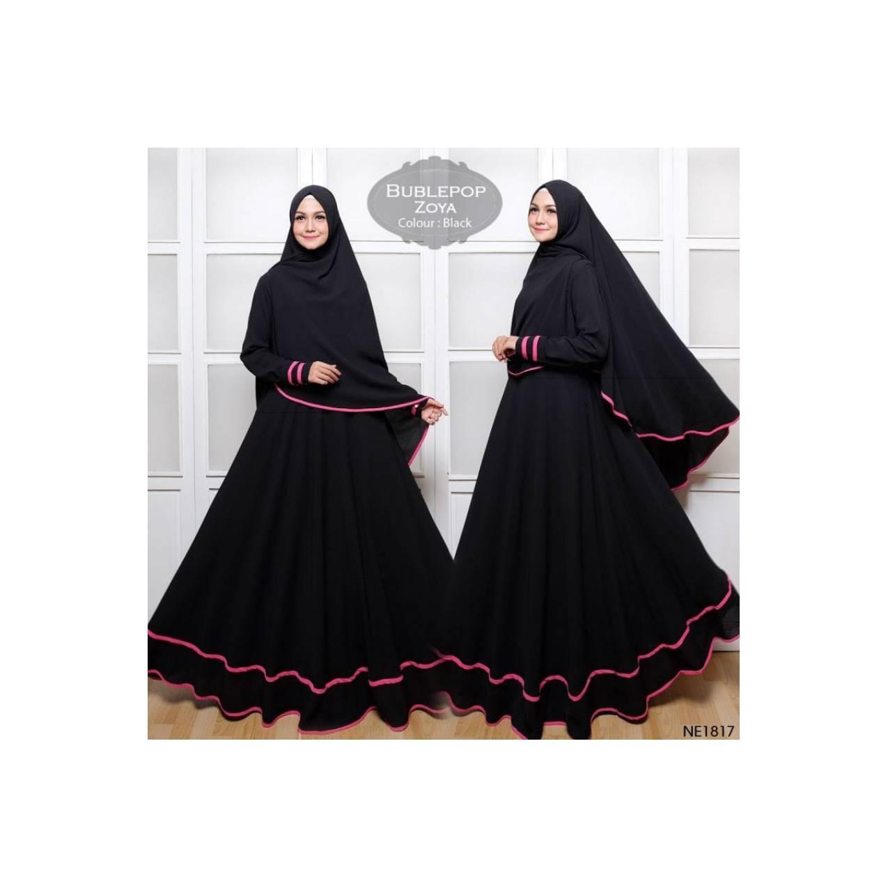 NE1817 | GAMIS BUBLE ZOYA SYARI - DRESS PESTA MUSLIMAH ELEGAN ORIGINAL