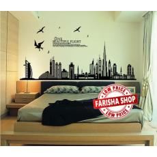 Wall sticker Beautiful Dubai JM7280 (90x60) Stiker Dinding