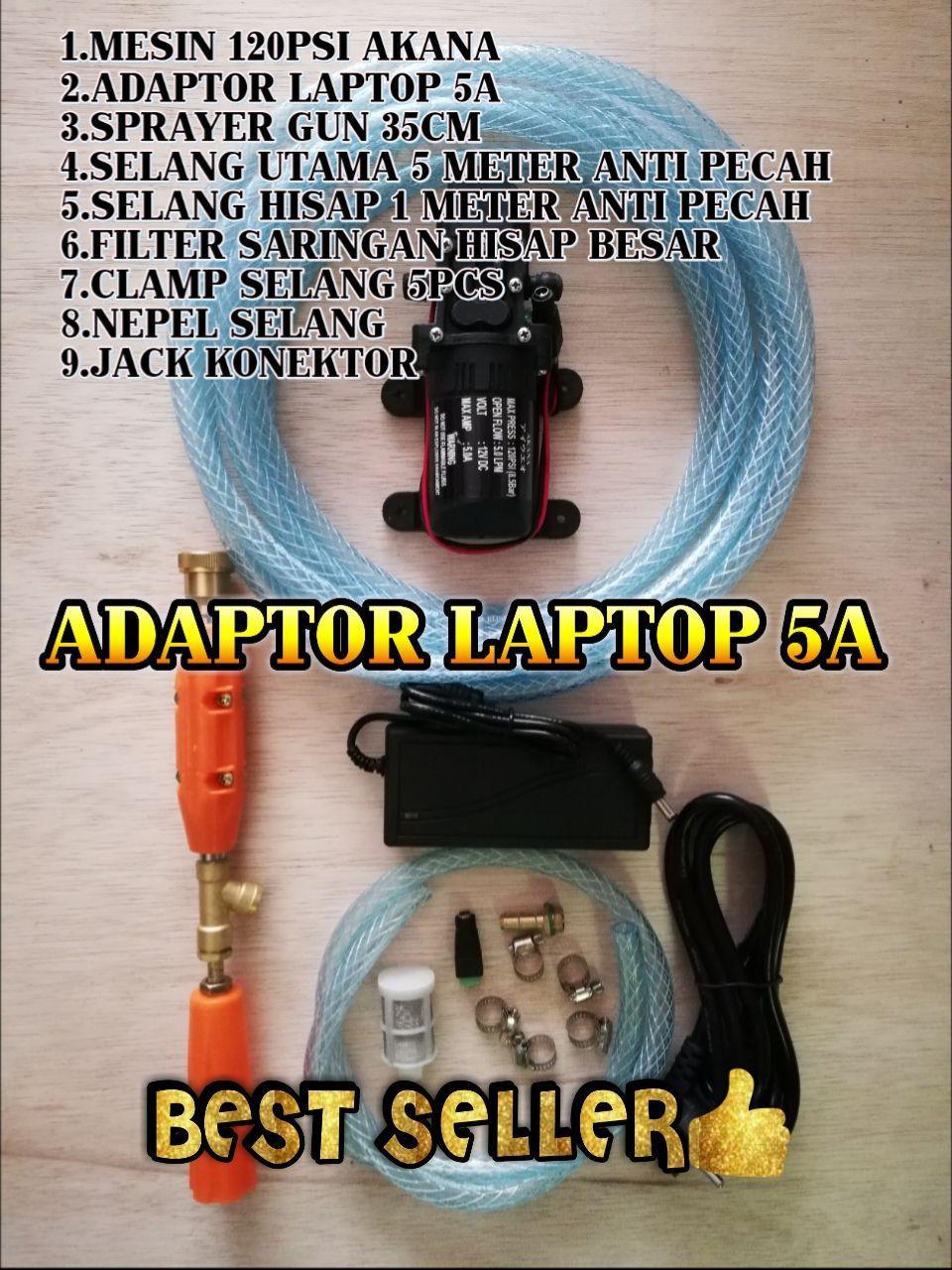 Mesin Cuci Steam Portable 5Meter Waterpump Paket Pompa Air DC Doorsmeer Mini Rumah Tangga 100Psi  Alat Cuci Motor Mobil Cuci AC