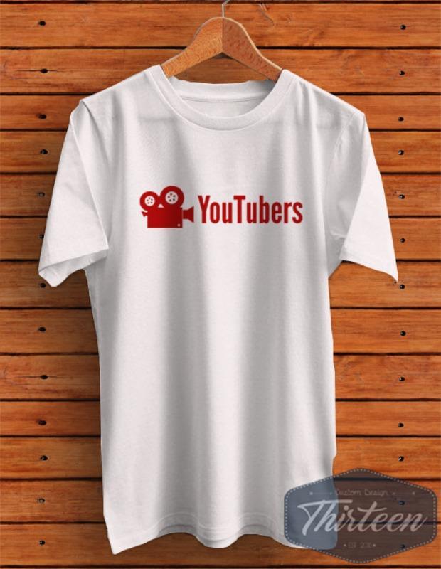 Kaos Original Baju Youtube Kualitas Distro - Putih