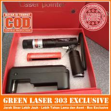 Laser Pointer 303 + Charger + Baterai PRemium Box REAL PICTURE