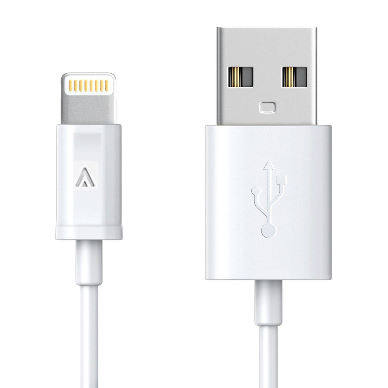 Kabel Data Charger 3 Meter High Speed Lightning USB for Apple iPhone iPad Mini 2 3 4 5 iPhone 5 5S 6S SE 7 8 X + Plus - Putih