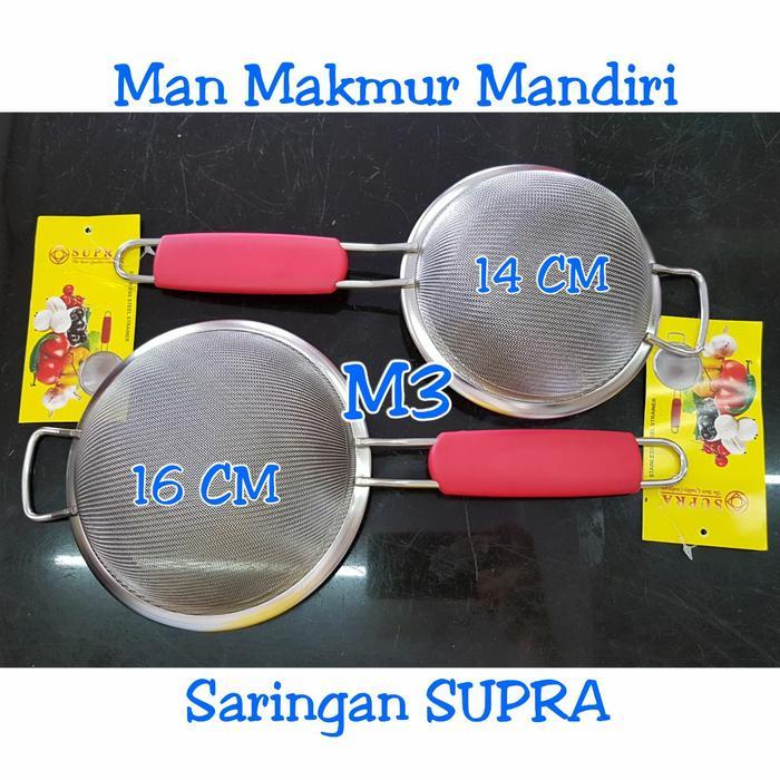 Indoshopi Saringan SUPRA 14 CM Stainless Steel / Saringan jus / Saringan bubur