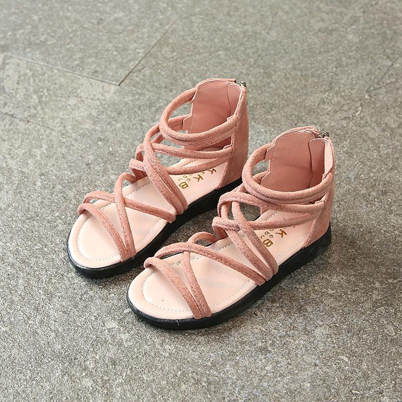 2018 Musim Panas Model Baru Sepatu Anak Perempuan Anak-anak Anak Perempuan Sandal Pantai Versi