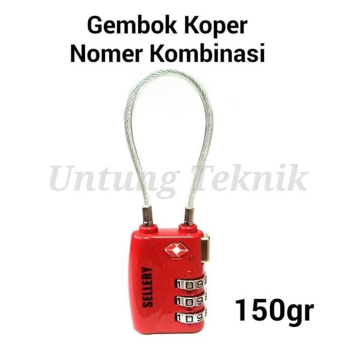 SELLERY Gembok Koper Kawat nomor Kombinasi - Luggage Lock