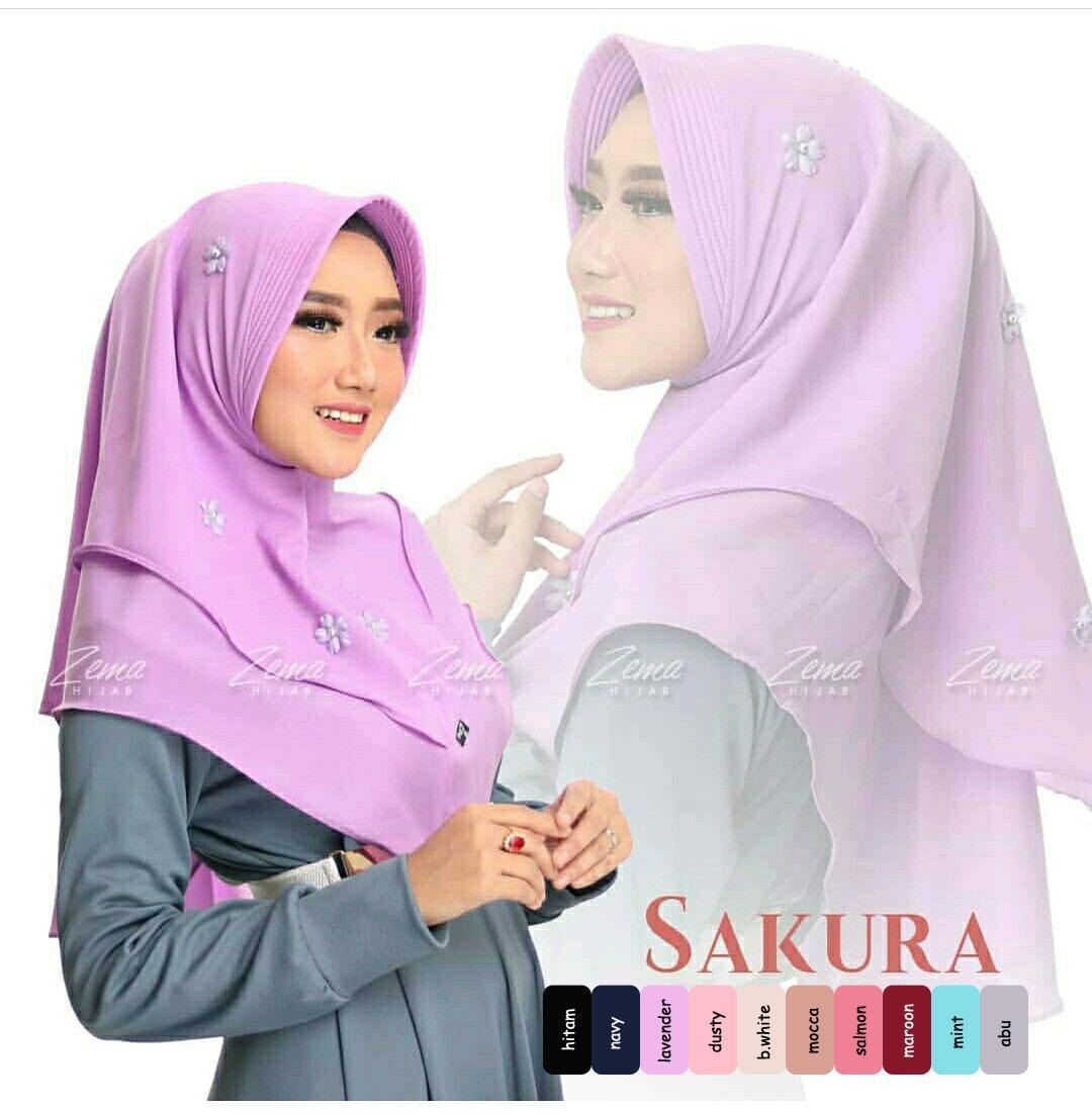 Maxmara Sakura Khimar Lavender HIjabIndonesia HIjabers Grosir Daily Promo Motif Fashion