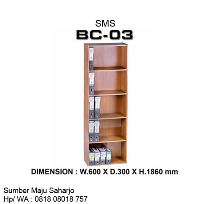 Promo  Lemari Buku File Arsip Kantor Rak Odner SMS BC 03 TANPA PINTU MURAH  Original