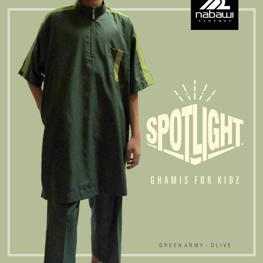 Jual Gamis Pakistan Anak Laki Laki Spotlight Hijau By Nabawi Clothes
