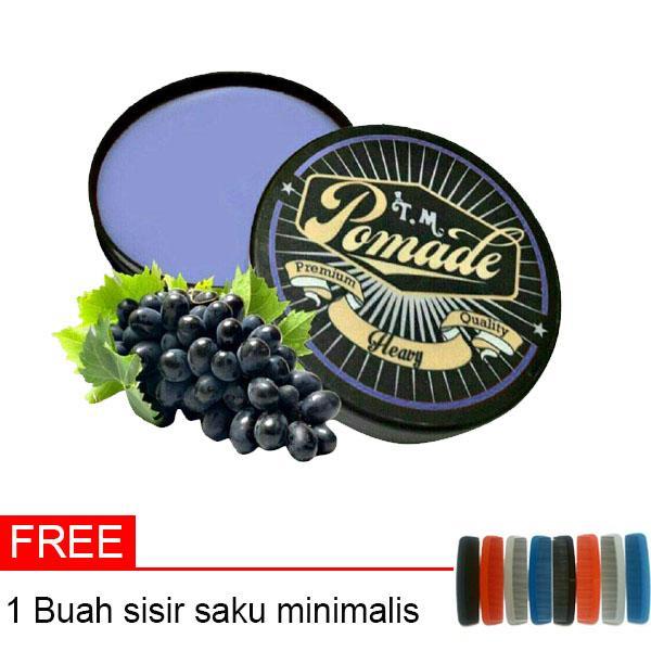 Minyak Rambut Oil Based TM Pomade Aroma Buah Anggur Ungu 60 Gram Hard