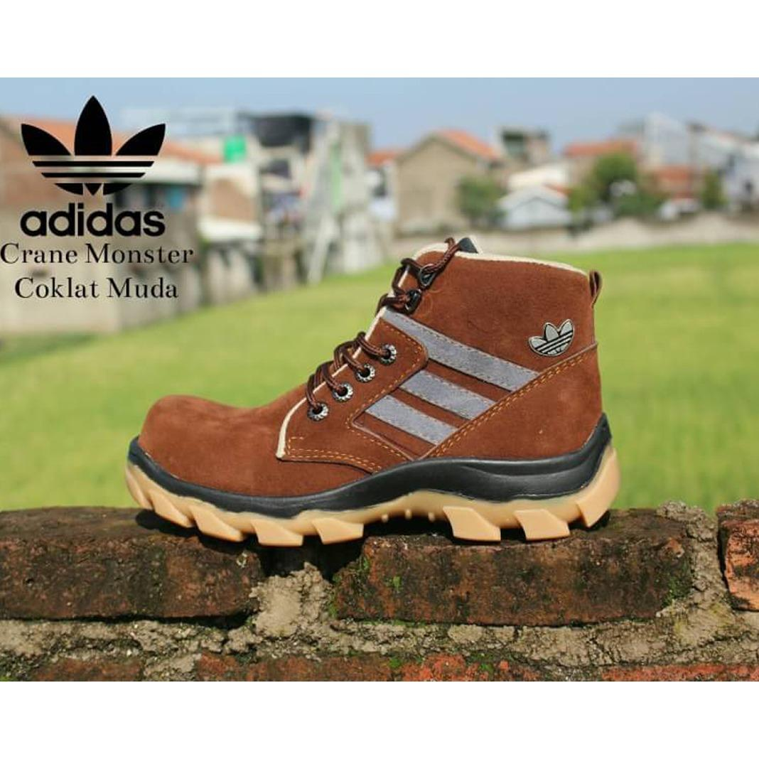 MARVEL'S - Sepatu Boots Safety Temli Pria - MARVEL'S Sepatu Safety Suede  Leather - Brown