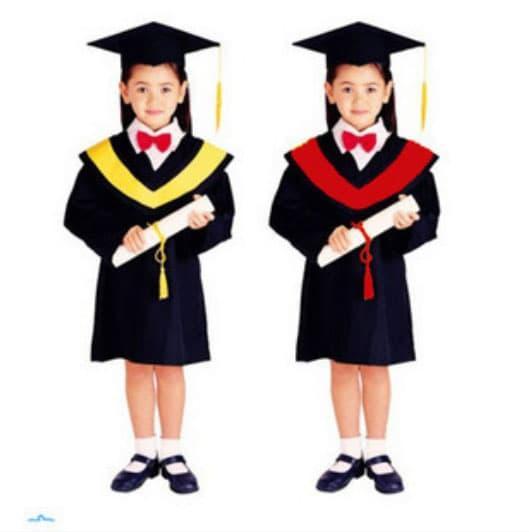 Baju Kostum Wisuda Untuk Anak Laki-Laki Dan Perempuan Termasuk Topi