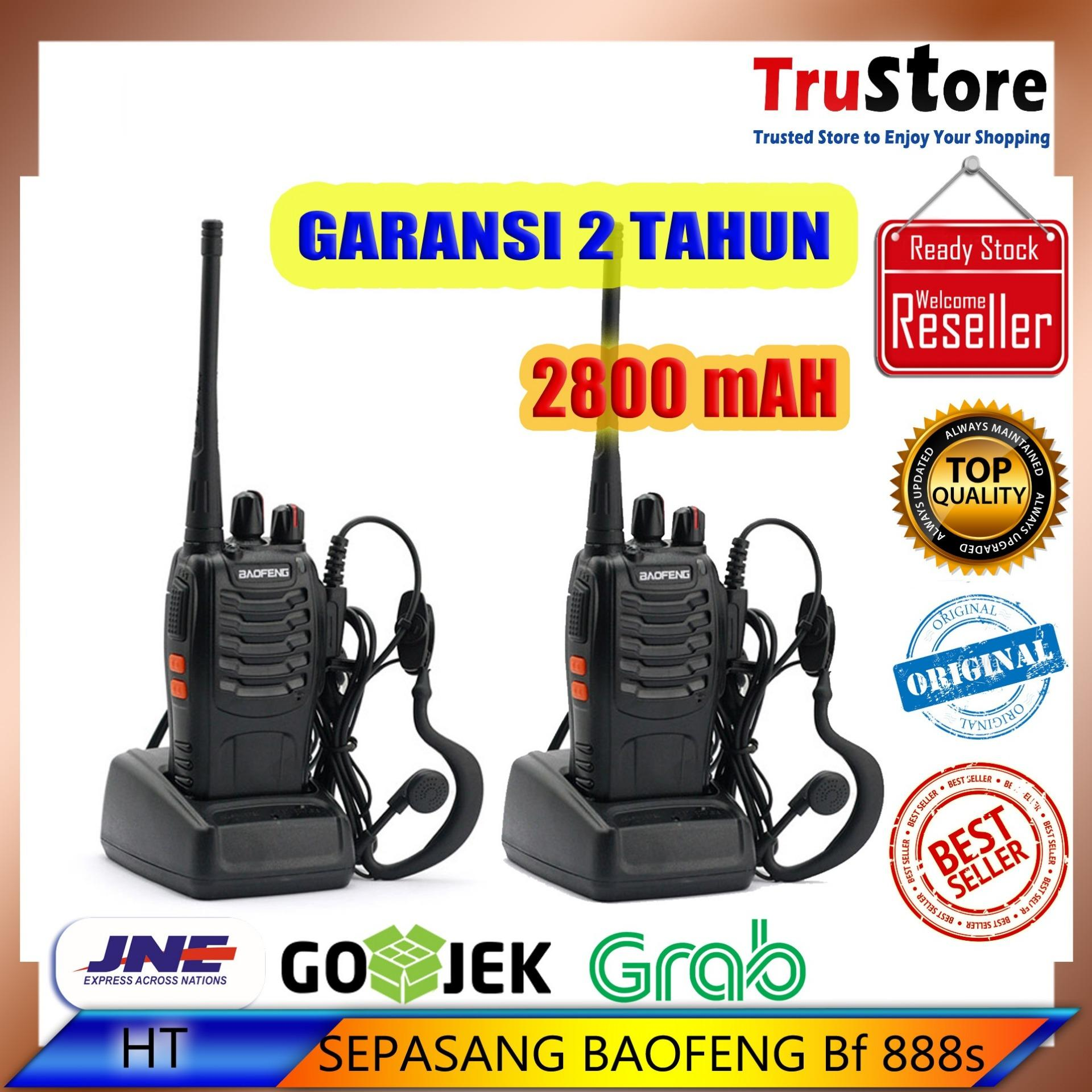 Jual Baofeng Walkie Talkie Ht Mini Uv 3r Handy Talky Dual Band Uv3r Uhf Vhf Bf Taffware Sepasang Radio 888s Bf888s