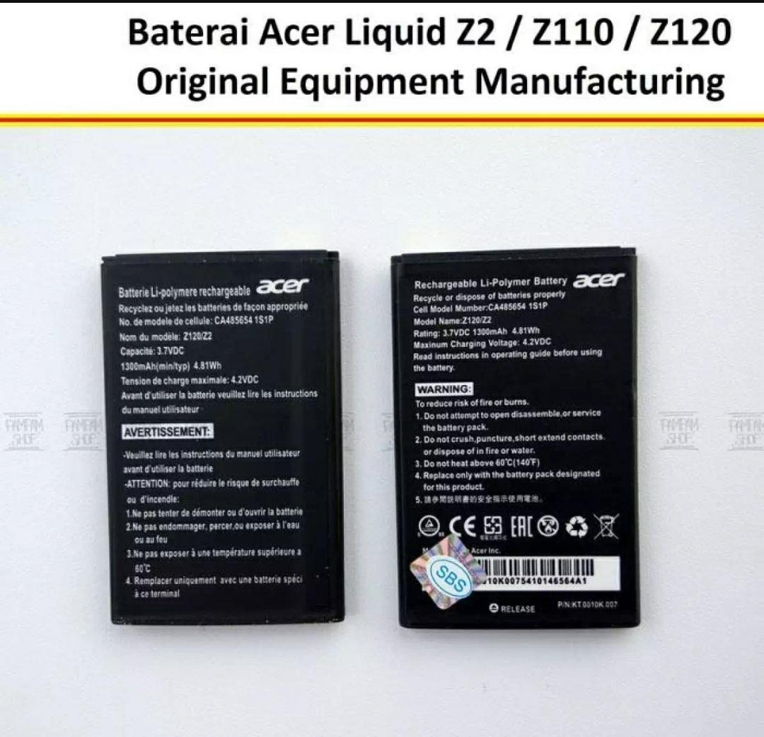 BATERAI HP ACER LIQUID Z2 Z110Z120 ORIGINAL OEM BATRE BATERAI BATTERY