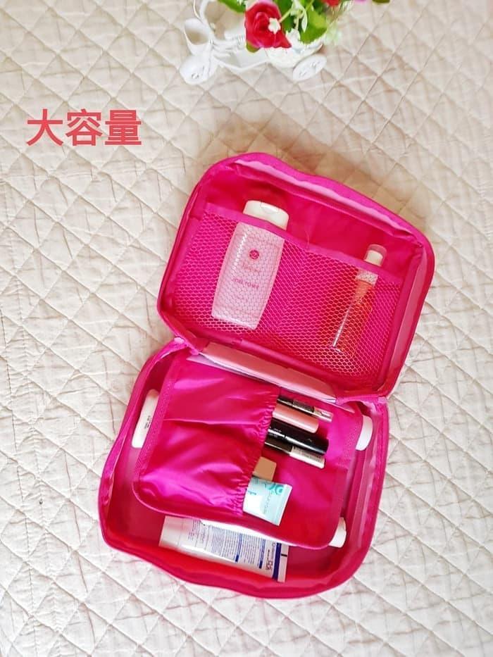 Grosir Station - Tas kosmetik/organizer pouch/Dompet kosmetik travel