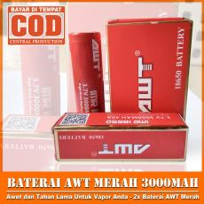 AWT Baterai IMR 18650 3000 Mah 3.7V 40A Baterai Rokok Elektrik High Drain Rechargeable +