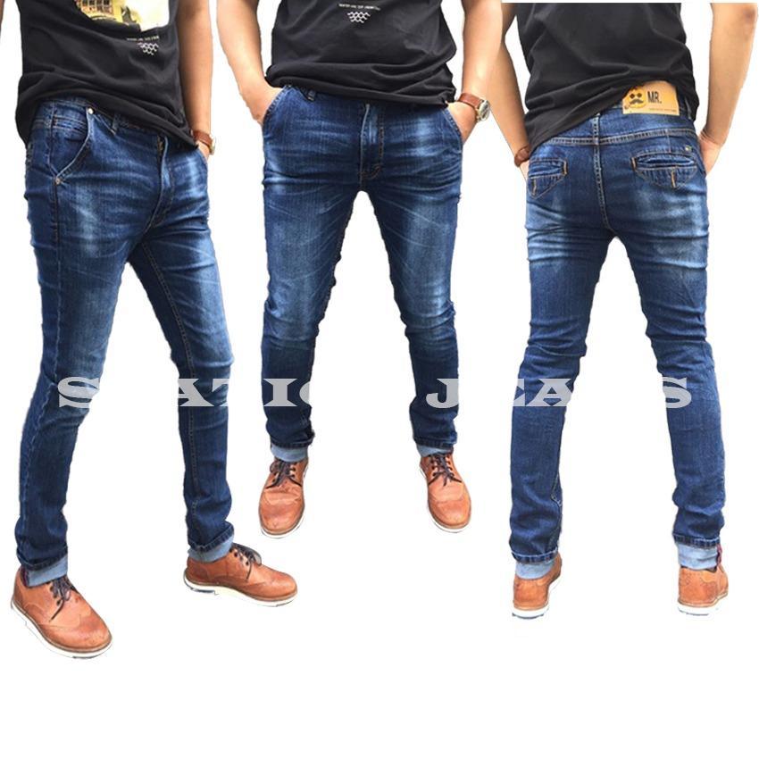 Celana Jeans Pria fit Skinny Straitch Lentur Branded BhetSeller