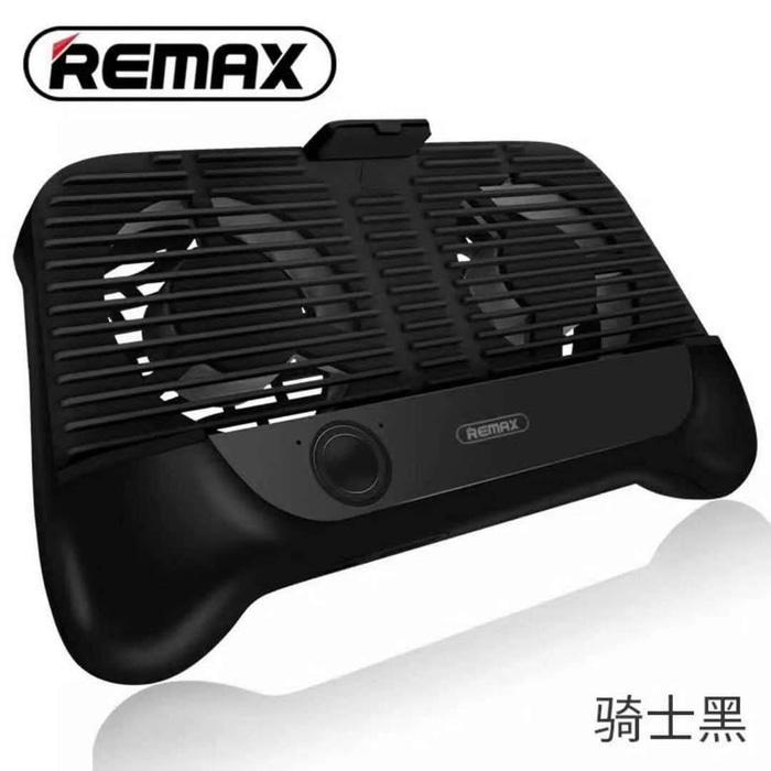 PROMO Remax Smartphone Cooling Gamepad RT-EM01 Stand Pad Handphone Hp ORI - Hitam Original 100%