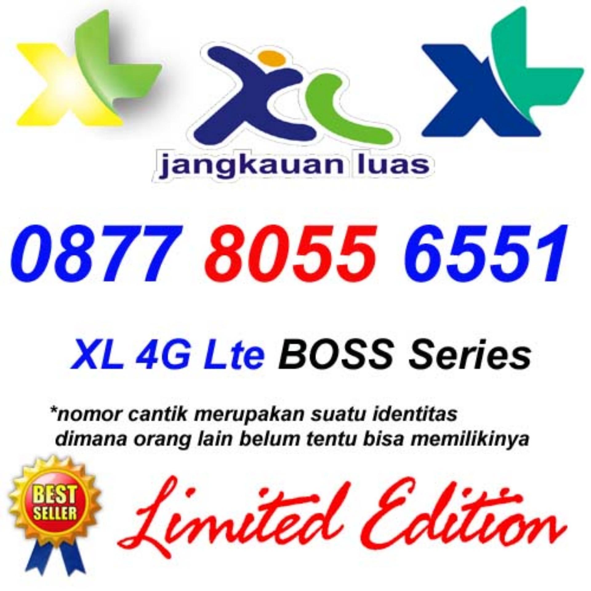 Kartu XL 4G LTE 0877 80 556 551 Perdana Nomor Cantik Combo Xtra