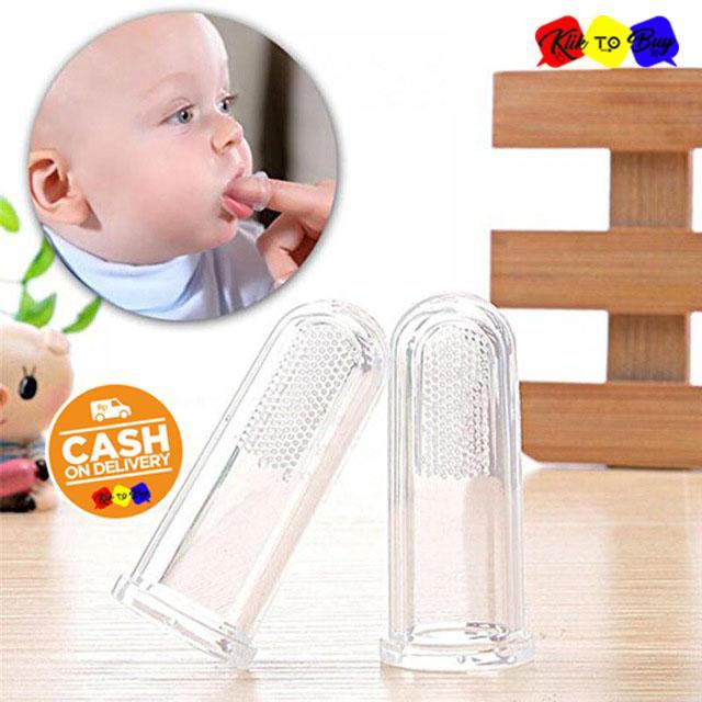 KTB Baby Tooth Brush / Sikat Gigi Bayi Finger Toothbrush Soft Silicone Gigitan Baby Bayi -