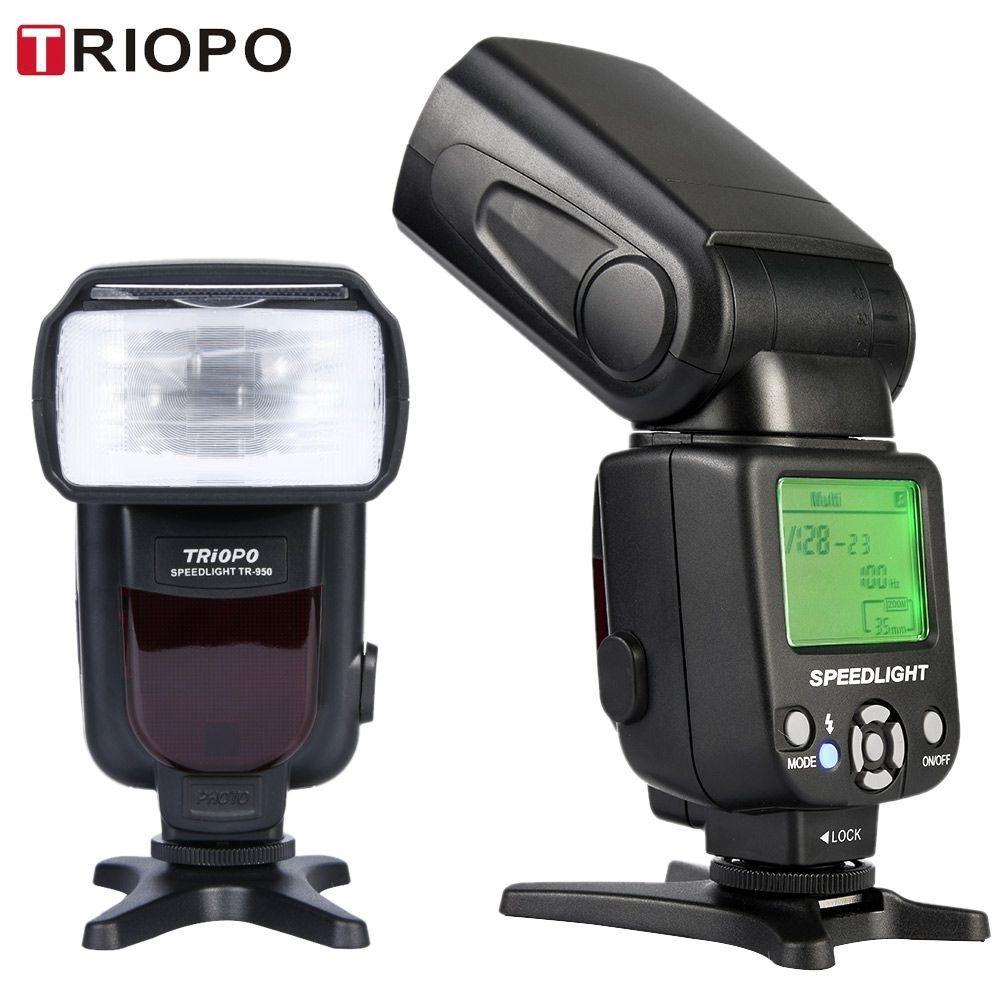 New Triopo TR-950 Wireless Flash Manual Multi Flash Speedlite Speedlight For Canon for Nikon DSLR Camera - intl