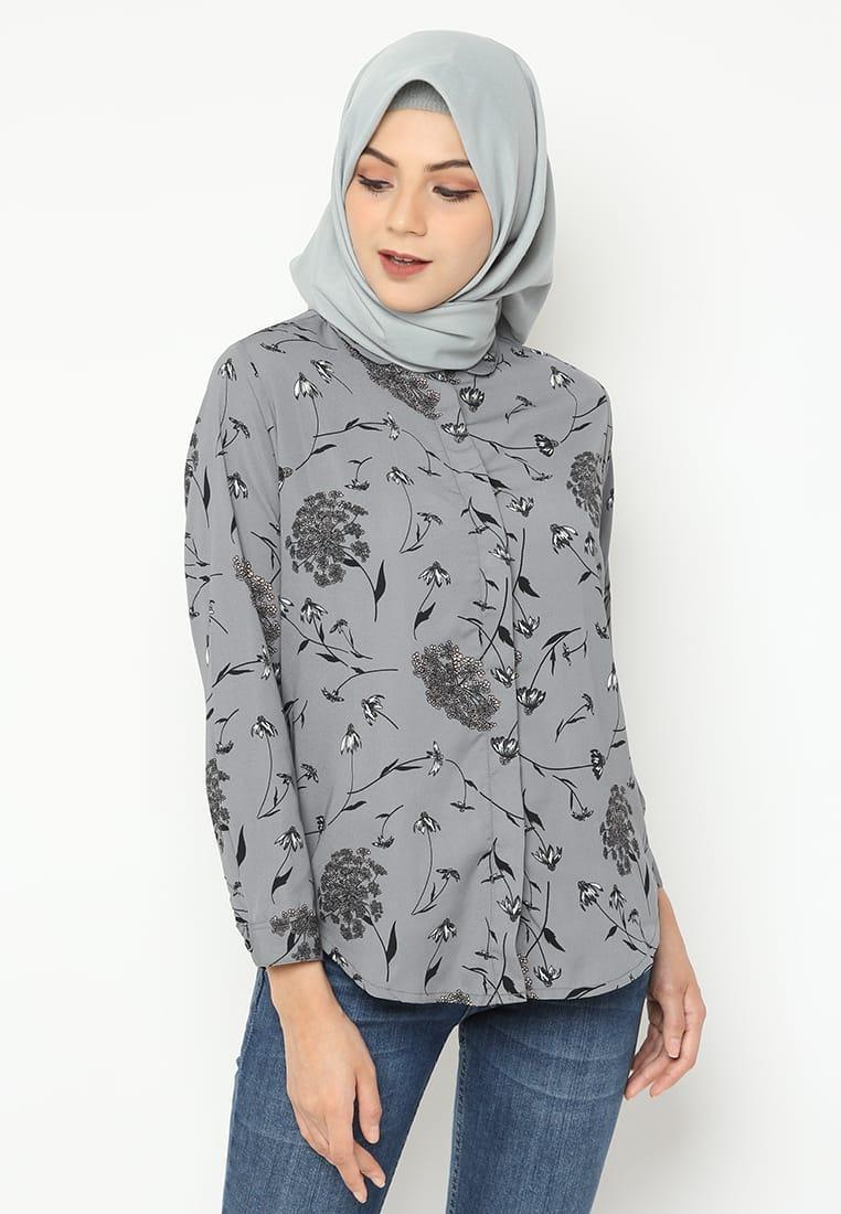 Kemeja Basic Motif Blouse Fashion Wanita feaa79c7d4