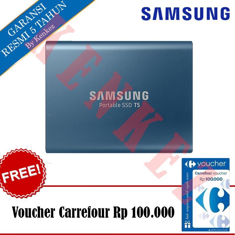Samsung Portable SSD T5 250GB - Biru + Voucher