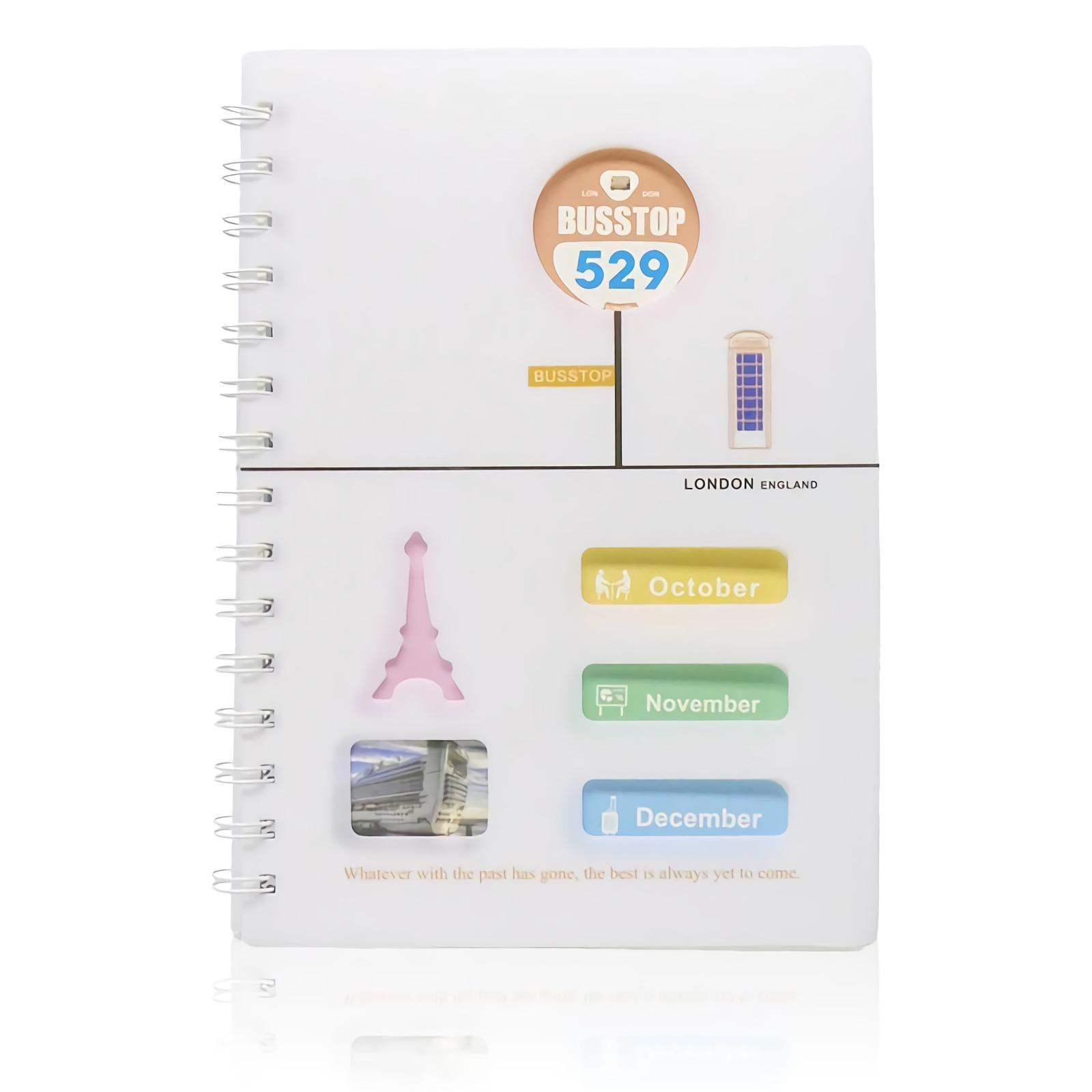 OHOME Buku Tulis [78 Lembar] Note Book Busstop Ukuran A5 Notebook Catatan MS-25100-39 Merah