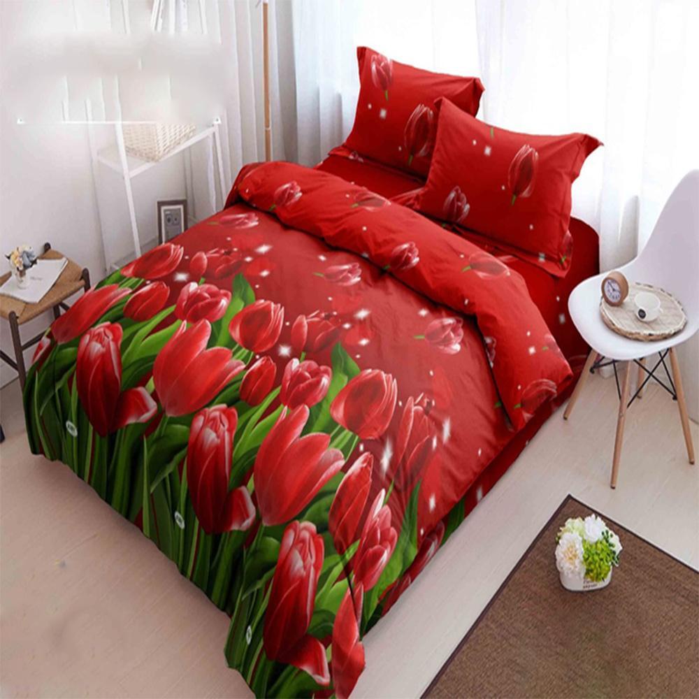 Kintakun Dluxe Bedcover King Motif Dutch Tulip 180x200 cm
