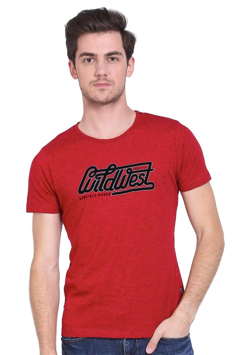 Cressida T-Shirt Kaos Pria Wild West Tee Red