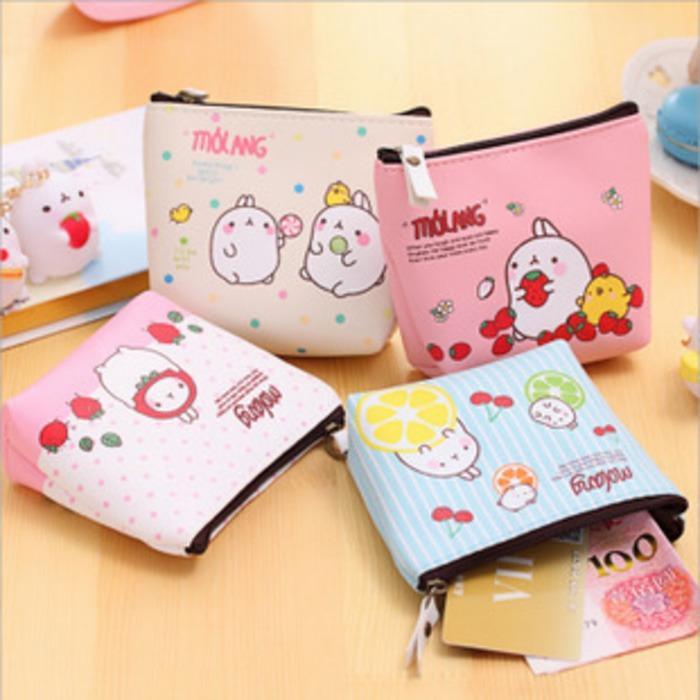 dompet koin kartun kelinci rabbit purse mini coin bag Korean bdo052