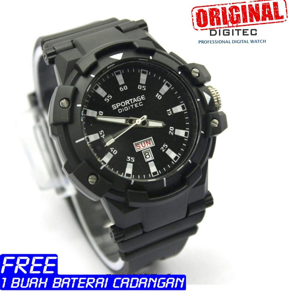 Digitec Sportage - Original - jam tangan pria - analog - strap karet - water resist