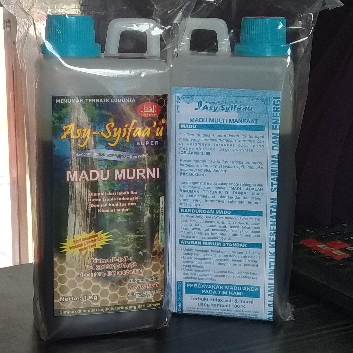 Asy-Syifaa'u Madu Murni Palembang 1kg